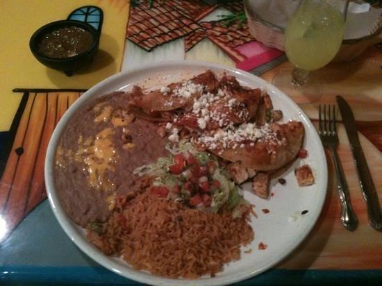 Plaza Bonita: carne asada taco plate..excellent!!