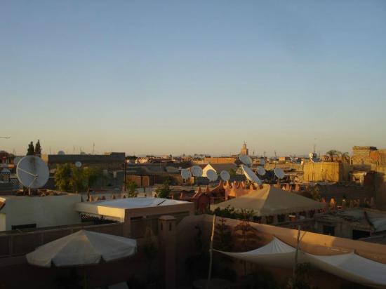 Riad Hidden : Vue de la terrasse