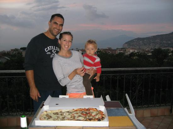 Villa Flavia: Dinner on the rooftop terrace