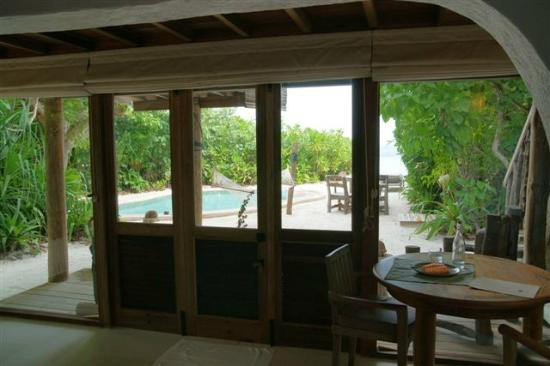 Soneva Fushi Resort: Requested to add a dining table in our villa