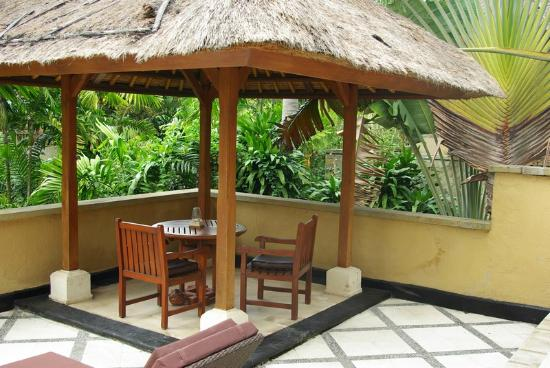 Karma Royal Jimbaran: Private balcony for upstairs rooms
