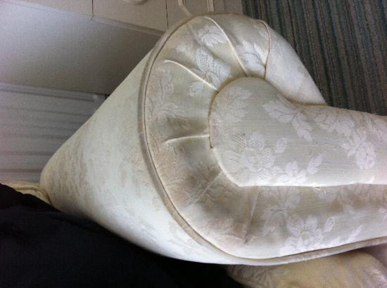 The Morningside Hotel: filthy sofa
