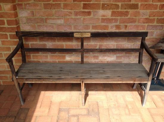 All Saints Anglican Church : Original bench seat.