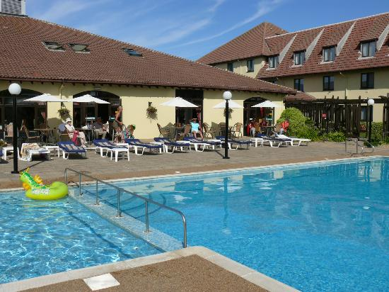 The Peninsula Hotel: Hotel pool and patio.
