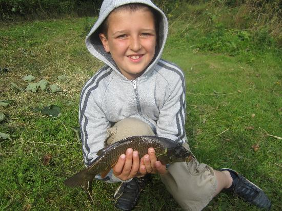 St. Tinney Farm Holidays: Thomas's first catch!!