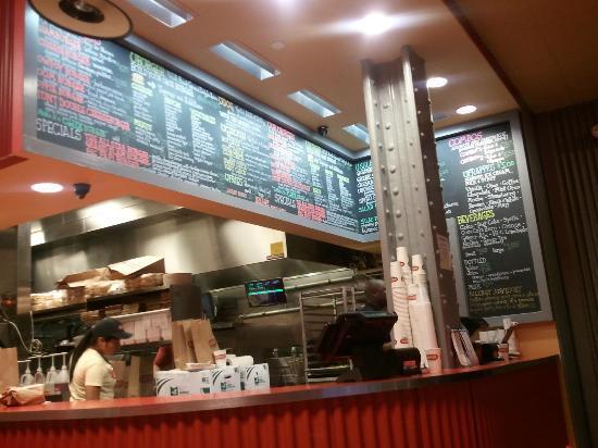 UBurger - Tremont: menu board