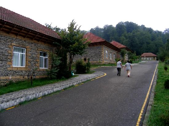 Lerik, Azerbaijan: Chalets near the reception