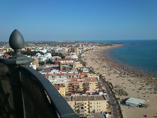 Faro de Chipiona: Vistas Chipiona y sus playas..