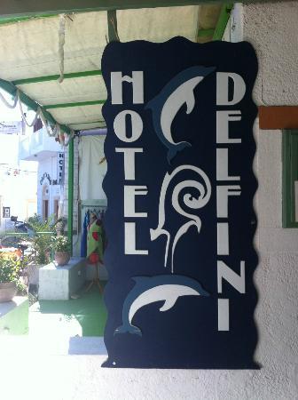 Delfini Hotel: L'insegna interna