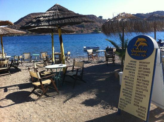 Delfini Hotel: La spiaggetta privata dove è possibile fare la colazione o consumare un buon cocktail
