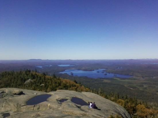 Fish Creek Pond Campground: View of Middle Saranac from Ampersand Mountain.