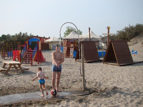Rosolina Mare Club: po kąpieli w morzu