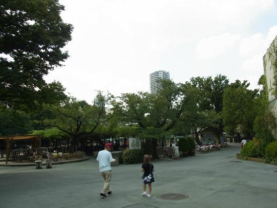 Ueno Zoo: open space in East garden