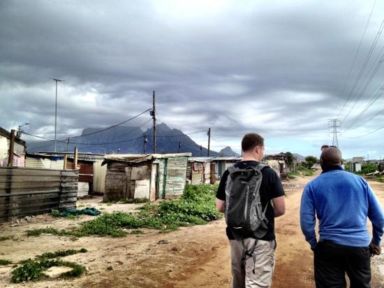Siviwe Township Tours: walking tour with table mountain in the background