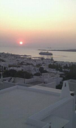 Sunset View: paros sunset