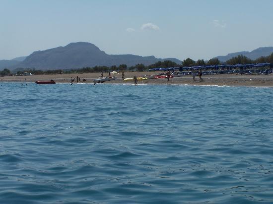 Dessole Lippia Golf Resort: Panorama spiaggai da pedalo