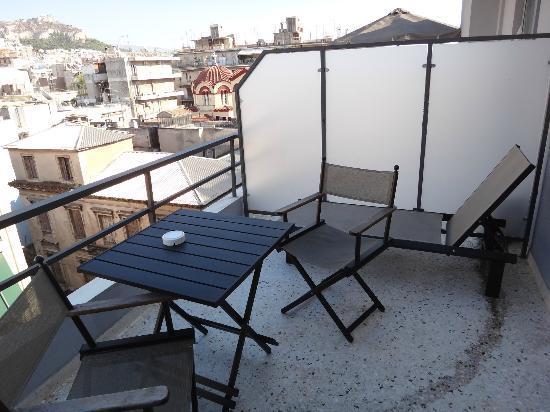 Ξενοδοχείο Άρεως: Large balcony on 6th floor