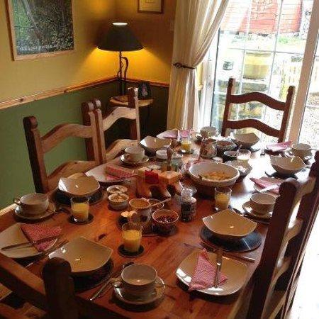Donour Lodge B&B : la stanza della colazione