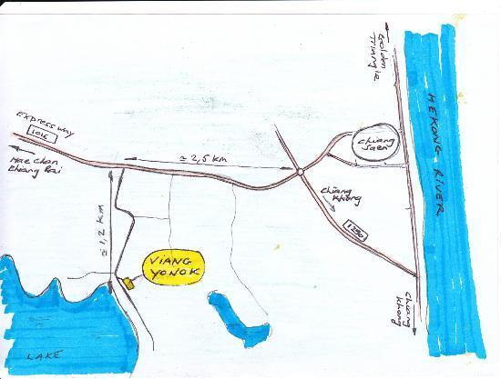 Viang Yonok Hotel, Restaurant, Sports Club: Map Access, Viang Yonok Hotel Chiang Saen Thailand