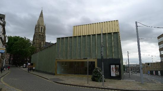 Nottingham Contemporary Art Gallery: Look out for the Nottingham lace imprinted green panels
