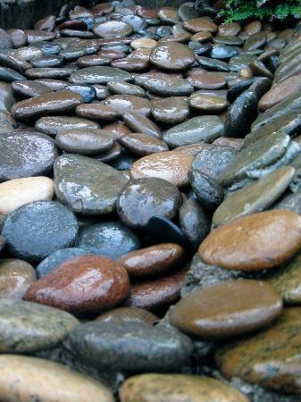 Viang Yonok Hotel, Restaurant, Sports Club: Pool stones detail, Viang Yonok Hotel Chiang Saen Thailand