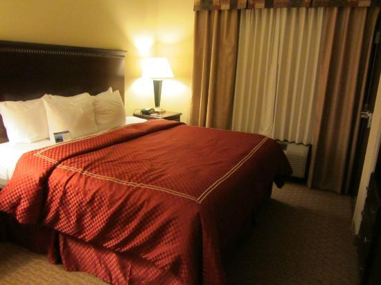 Bed picture of comfort suites biloxi tripadvisor for Comfort inn bedding