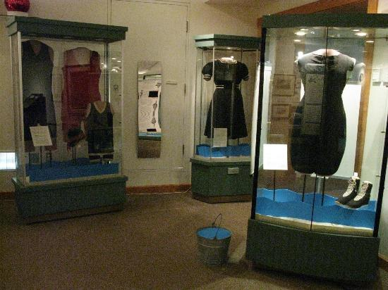 Rehoboth Beach Museum: Vintage bathing suits and fun house mirror