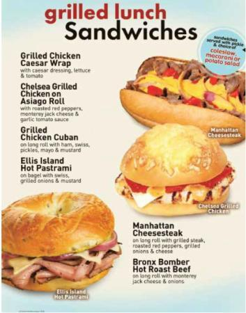Manhattan Bagel Co: Grilled Lunch Sandwiches