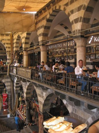 Diyarbakir, Turkey: The upstairs gallery at breakfast time