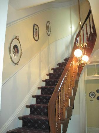 The Flagg Farmstead: Winding Staircase to 2nd Floor Guest Rooms