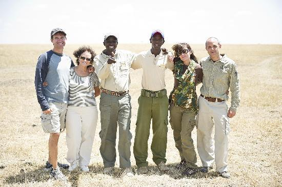 Karen Blixen Camp: Our fabulous guides, Peter and Twala
