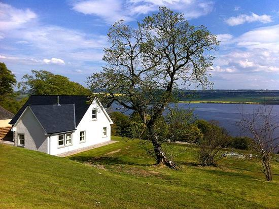 Highland Farm Cottages: View across the Cromarty Firth