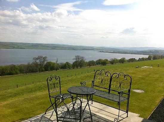 Highland Farm Cottages: View from the patio