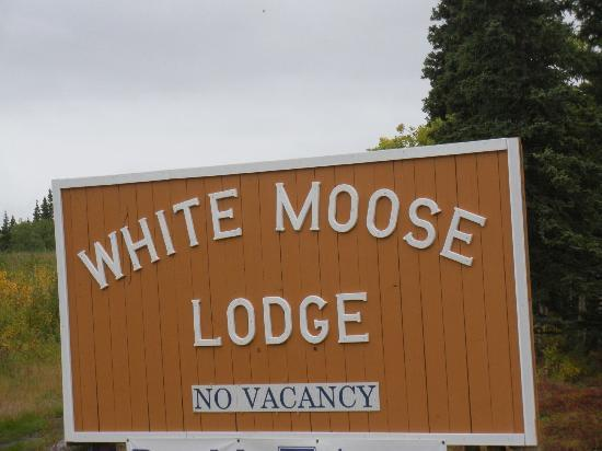 White Moose Lodge: sign
