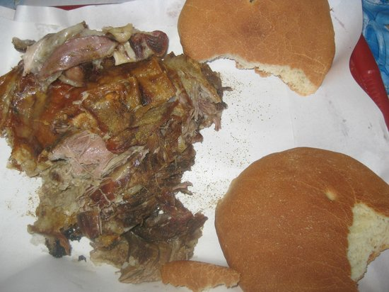 Mechoui Alley: 2 person portion of lamb and bread