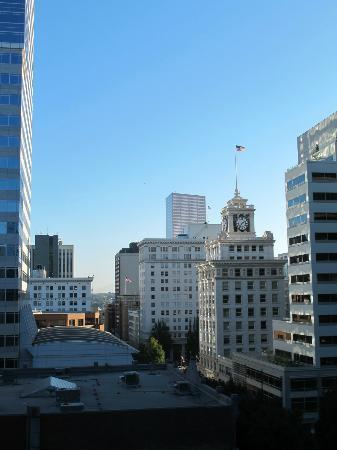 The Heathman Hotel: view from window