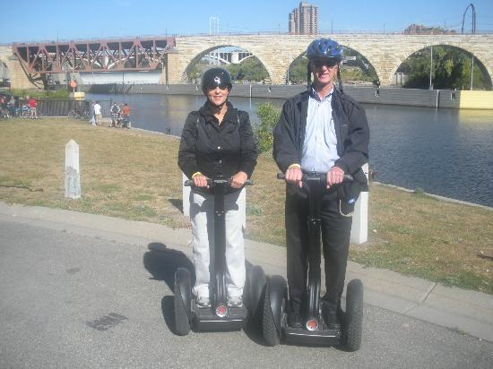Enjoying Minneapolis on our segway!