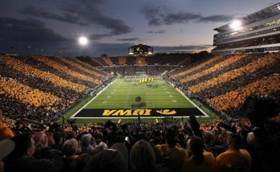 Nile Kinnick Stadium: Kinnick at Night