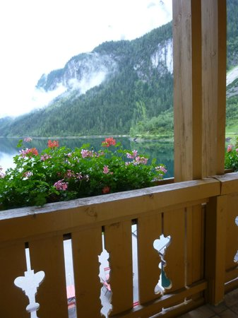 Gasthof Gosausee: view from our balcony
