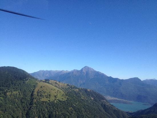 Hotel Risi: view from my chopper (best business meeting ever)
