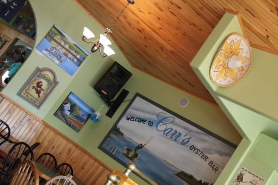 Carr's  Oyster Bar: Interior View ... Hey, it's OK!