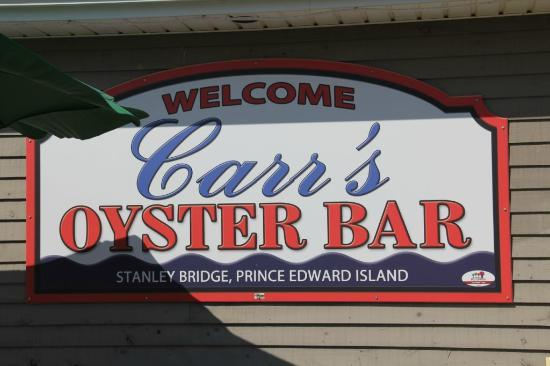 Carr's  Oyster Bar: This is the sign you're looking for!