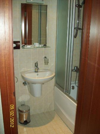 Lady Diana Hotel: View Of Bathroom, Clean Shower Stall, Plenty Of Toiletries