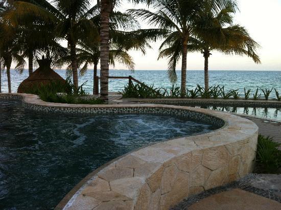วิลลาเดลปัลมาร์แคนคัน: Hot Tub by the infinity pool