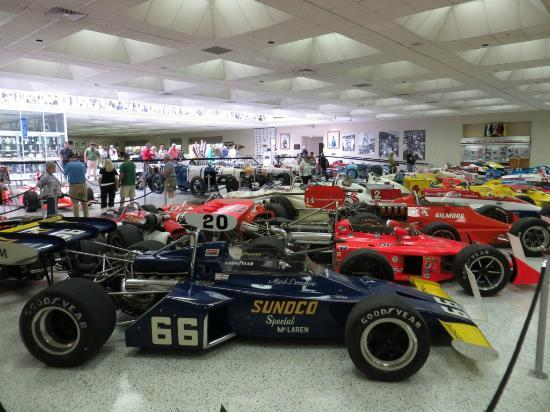 indy cars of all vintage are on display picture of