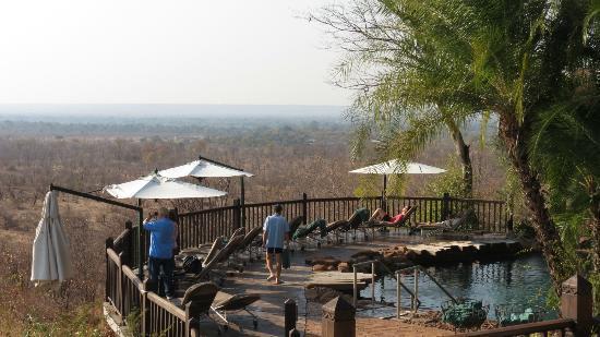 Victoria Falls Safari Lodge: View from the pool