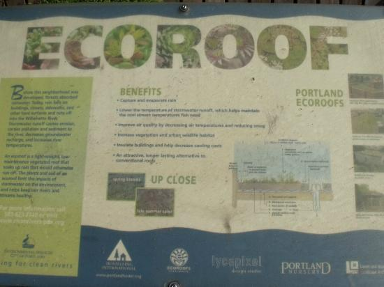 Hostelling International Portland Hawthorne Hostel: Ecoroof description