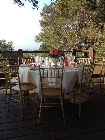Elings Park: Table setting prior to guests arrival
