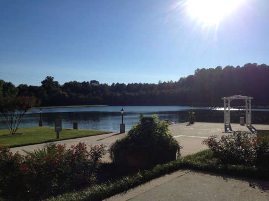 DoubleTree Suites by Hilton Hotel Raleigh-Durham: Lake behind Doubletree - RTP