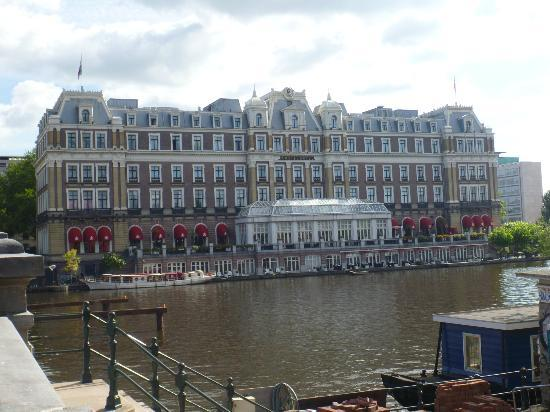 InterContinental Amstel Amsterdam: Amstel hotel from across the Amstel river.